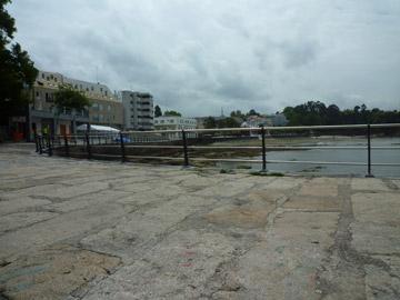 Obras do valado del Porto de Santa Cruz